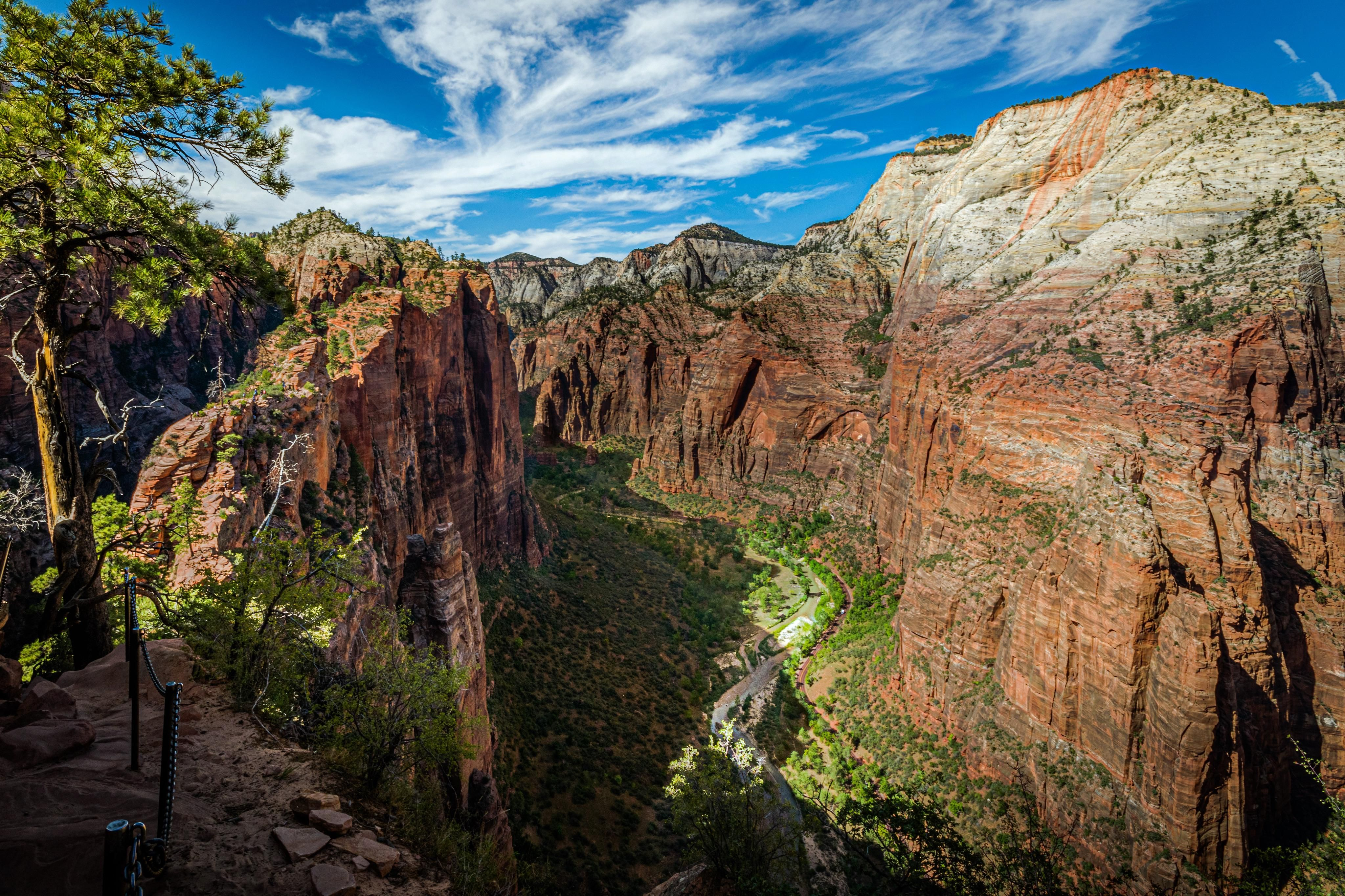 Angels Landing Trail On The Left 5 Miles Out And Back Zion