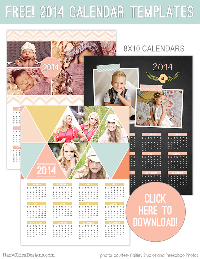 free 2014 calendar templates for photographers free download photographer photography templates new year free chalkboard senior newborn family