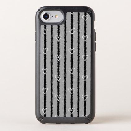 #Sketchy Hearts and Stripes Speck iPhone Case - #trendy #gifts #template