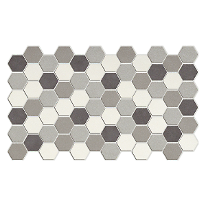 Piastrella lambada 20 x 33 3 cm bianco nero grigio for Battiscopa bianco leroy merlin