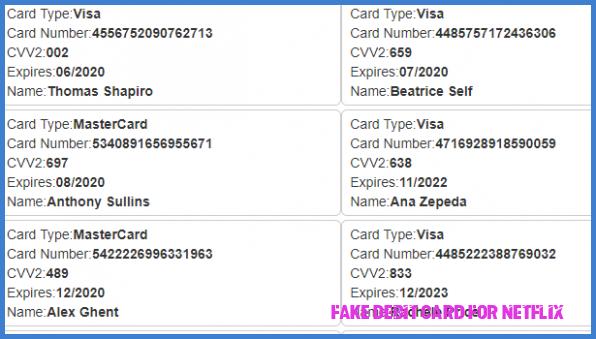 aeeb4df4bba63e292fc52be4cab1fb5f - How To Get A Fake Credit Card For Netflix