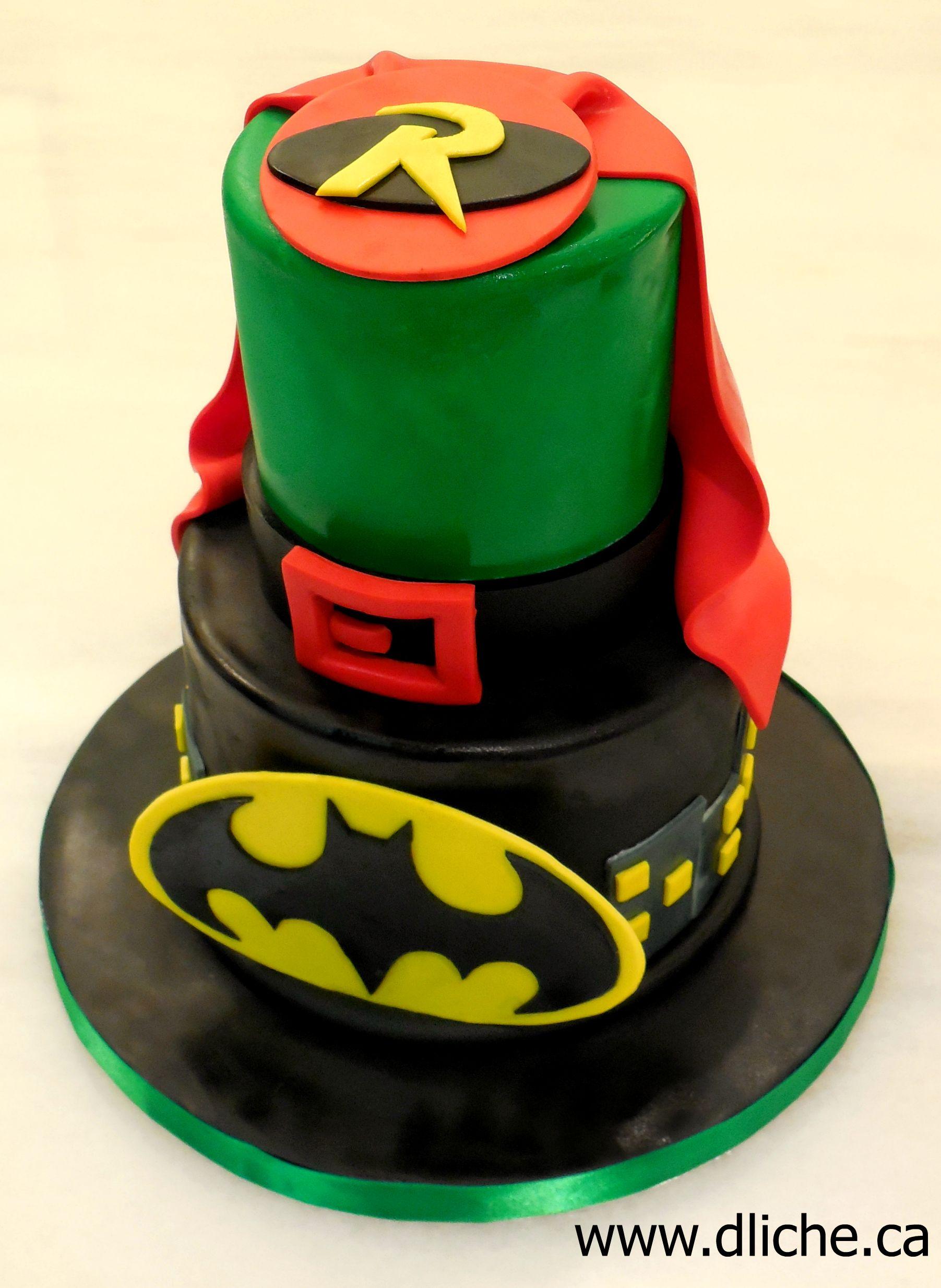 Batman \u0026 Robin. Fete AnniversaireGâteaux