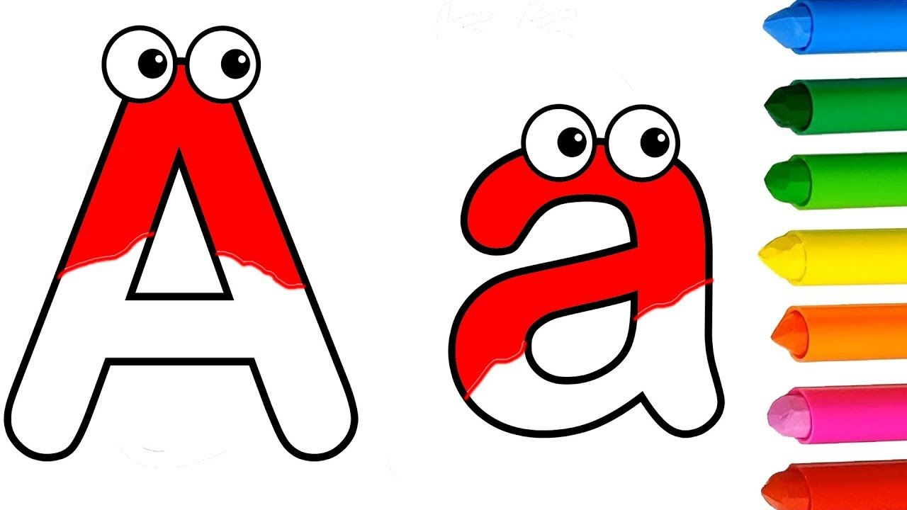 Capital Letters And Small Letters For Kids Abc Drawing Coloring Pages Kids Birthday Party Decoration Coloring Pages Abc For Kids