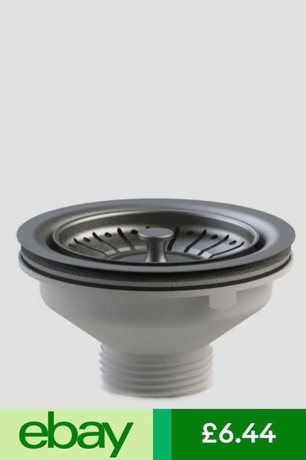 Kitchen Sink Basket Strainer Waste & Plug WITHOUT Overflow