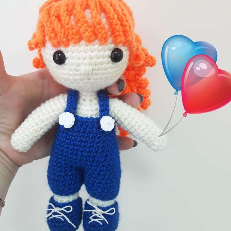 Crochet Julie doll - free amigurumi pattern | Proyectos que intentar ...