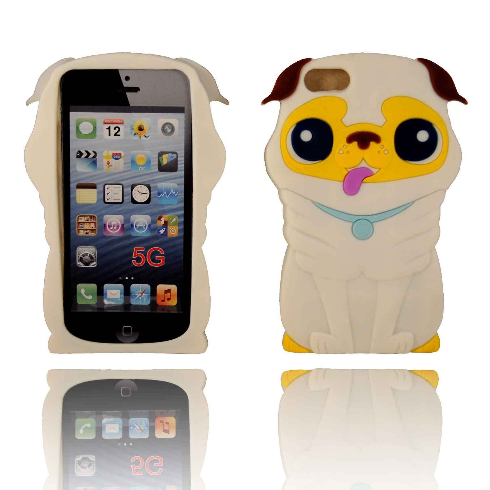 3d iphone 5s cases 3d puppy silicone iphone 5 white 13346