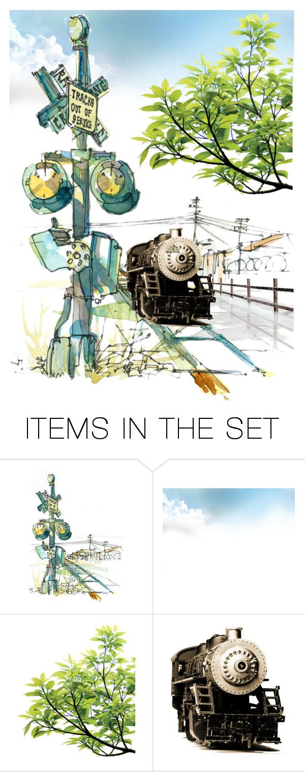 """""""🚉"""" by mlkdmr ❤ liked on Polyvore featuring art"""