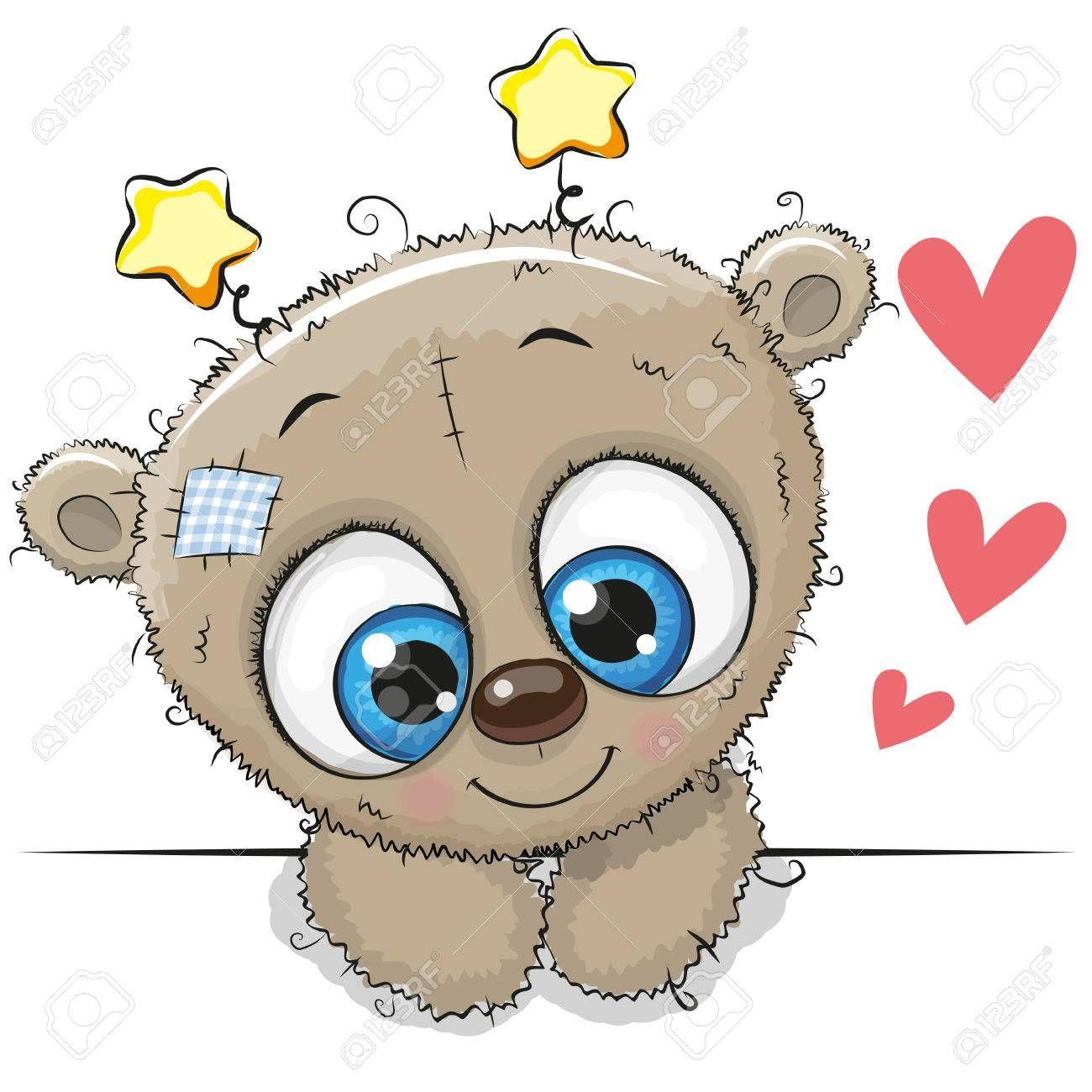 Cute Cartoon Teddy Bear With Big Eyes Cute Cartoon Boy Teddy Bear Cute Cartoon