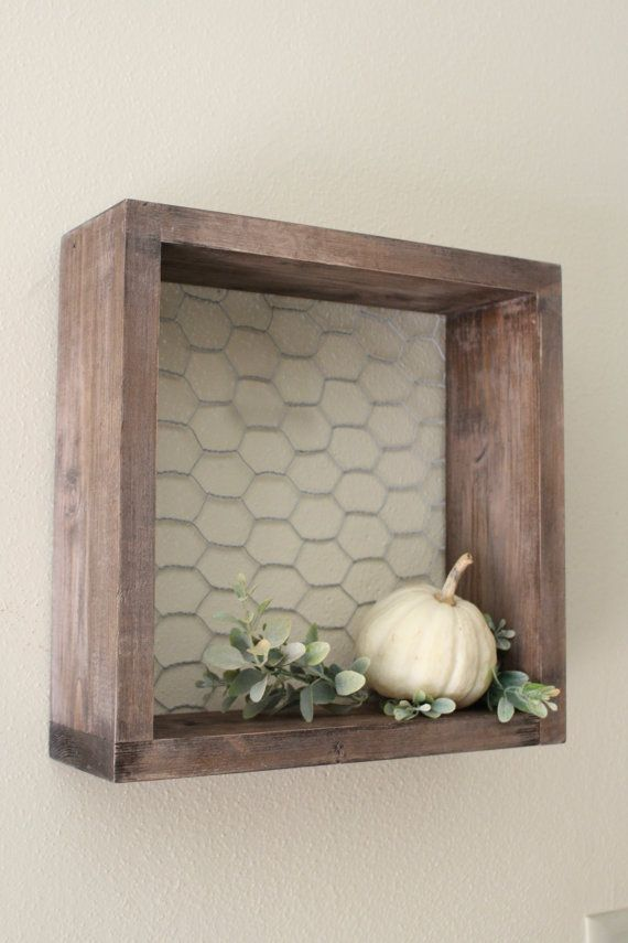 Cool House decor - Farmhouse Shelf, Modern Farmhouse Decor, Chicken Wire Shelf, Wood, Christmas Decor, Gift