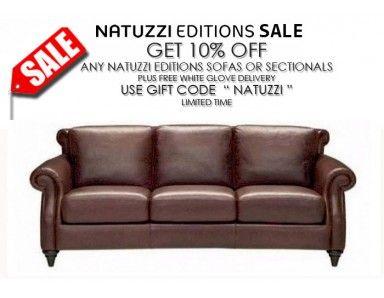 Natuzzi Editions A297 Leather Sofa Set