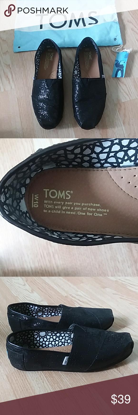 NIB Tom's sparkly slip ons   Toms, Slip