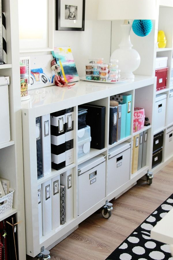love this cart with big casters. perfect for craft room storage