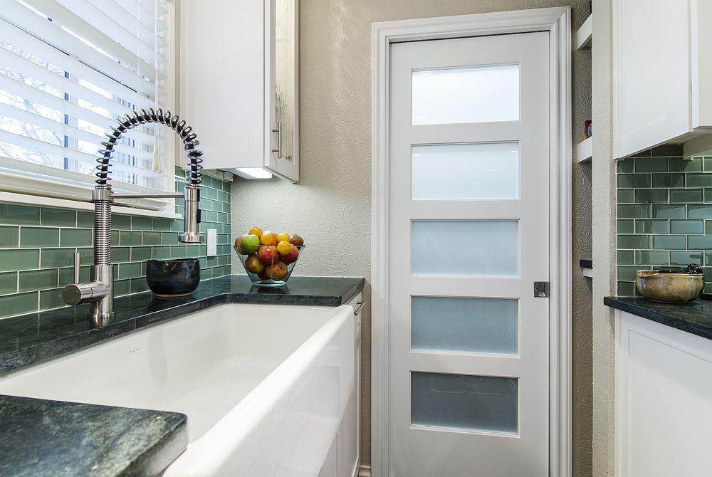 kitchen pantry door modern - Google Search | Glass pantry ...