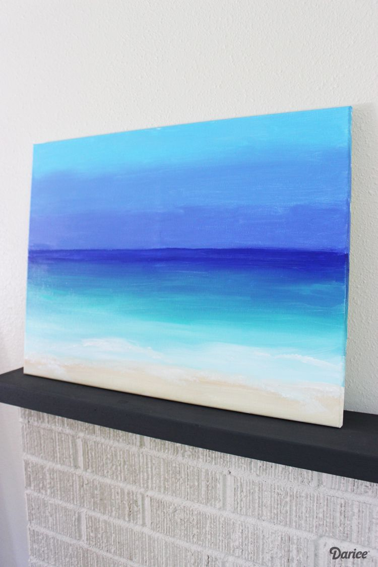 20ba9a10c0a Get your artistic juices flowing with a super easy and fun DIY painting  tutorial on how you can paint your own ocean scene in about 15 minutes.