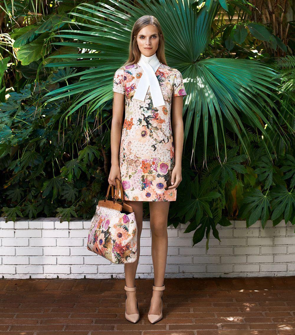 tory burch kaley floral dress - Google Search