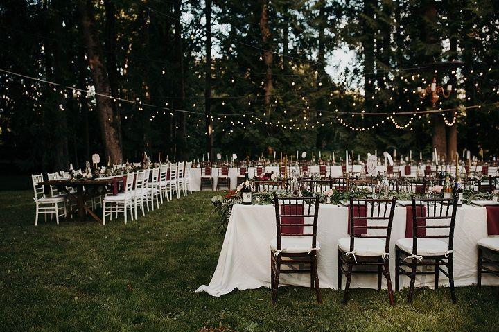Beautiful Outdoor Wedding Reception In The Backyard Just