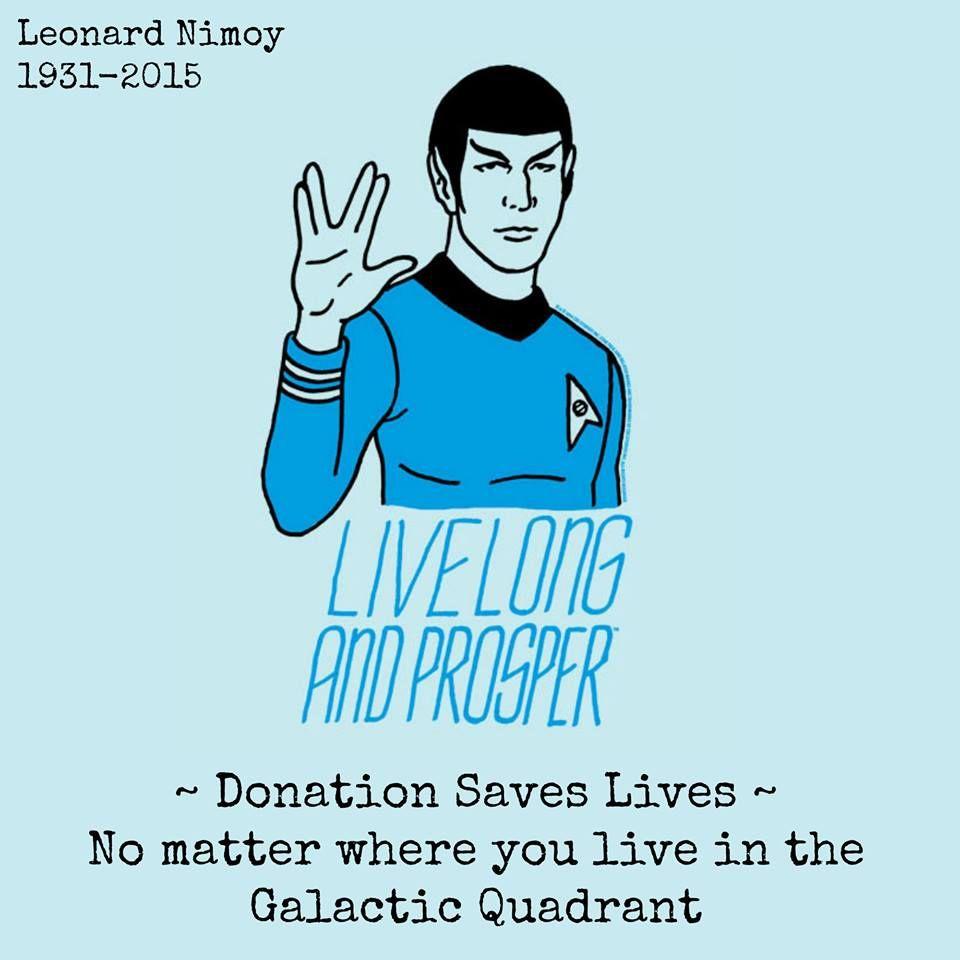 Star Trek Movie ribbon Live Long and Prosper Ribbon