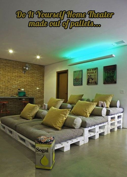 Diy Home Theater…  Geeky Things  Pinterest  Furniture Ideas Mesmerizing Living Room Home Theater Ideas Inspiration