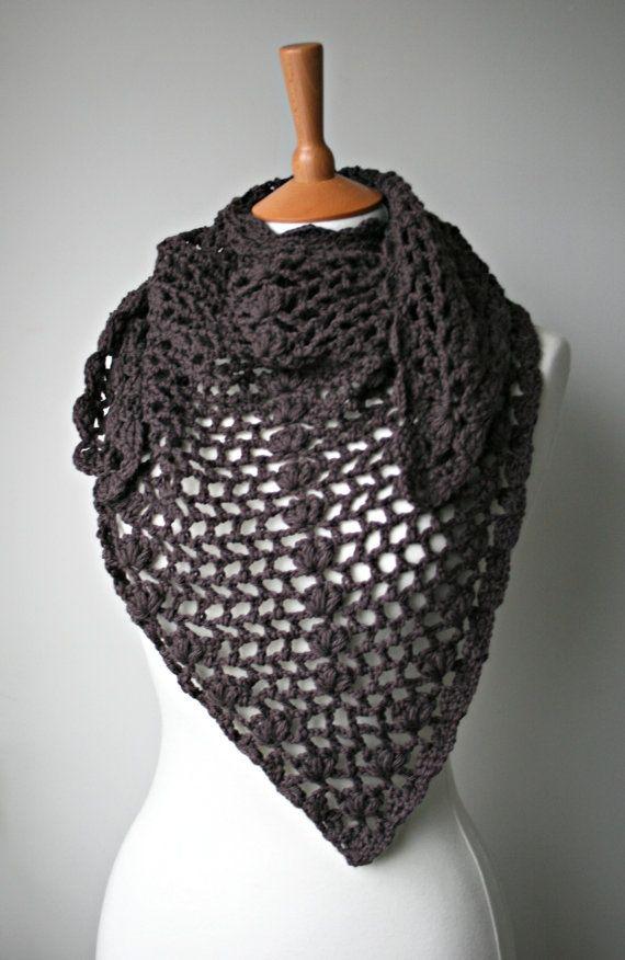Crochet pattern scarf / shawl crochet pattern wrap by LuzPatterns ...