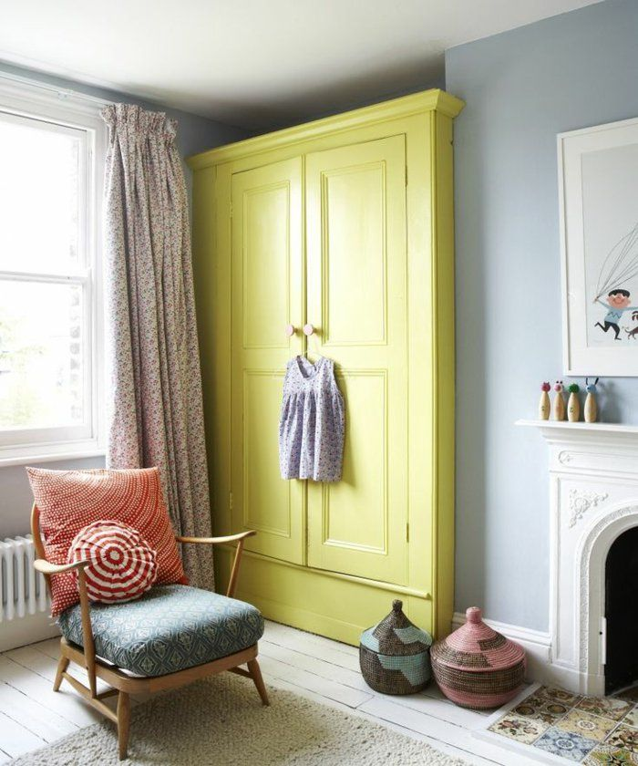 1-joli-conforama-armoire-enfant-de-couleur-vert-dans-la-chambre-d - couleur de la chambre