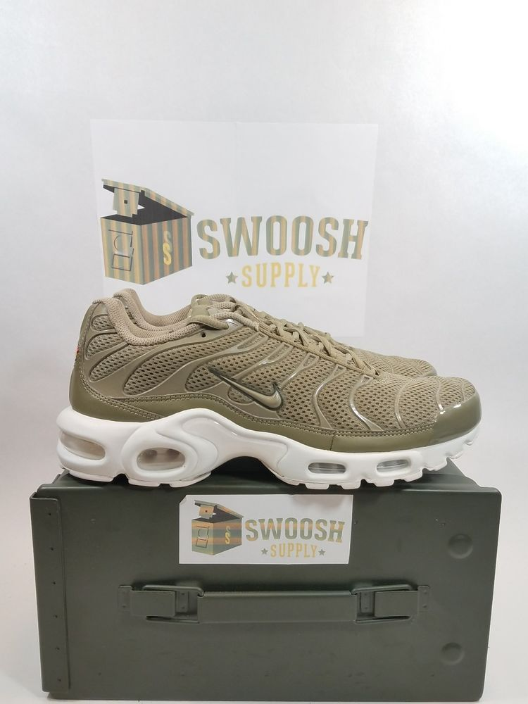 finest selection 8f601 ba017 Nike Air Max Ultra Plus TN Tuned Breeze Khaki Cargo Summit White 898014 200  SZ 9 Nike RunningCrossTraining