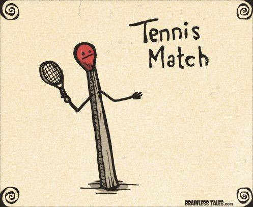 Tennis Match Funny Puns Punny Puns Funny Illustration