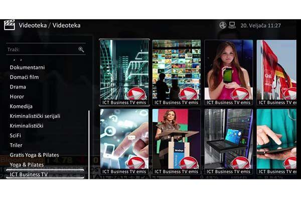 """Novost na OptiTV usluzi Optima Telekoma emisije su ICTbusiness TV od prve emisije koja je izašla na prvu godišnjicu portala prošle godine, pa sve do posljednje emisije koja će biti dostupna u narednih nekoliko dana. Emisije su dostupne u obliku """"video on demand"""" odnosno u posebnom odjeljku videoteke."""