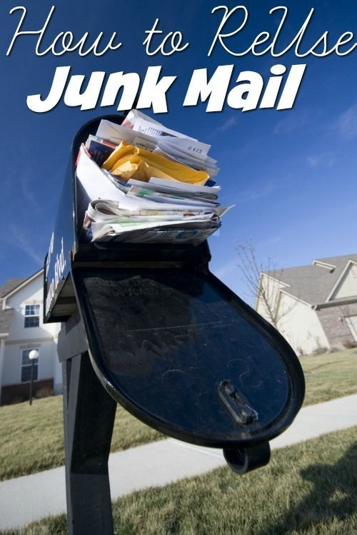 Did you know there are ways to re use your junk mail that will help you save money?!