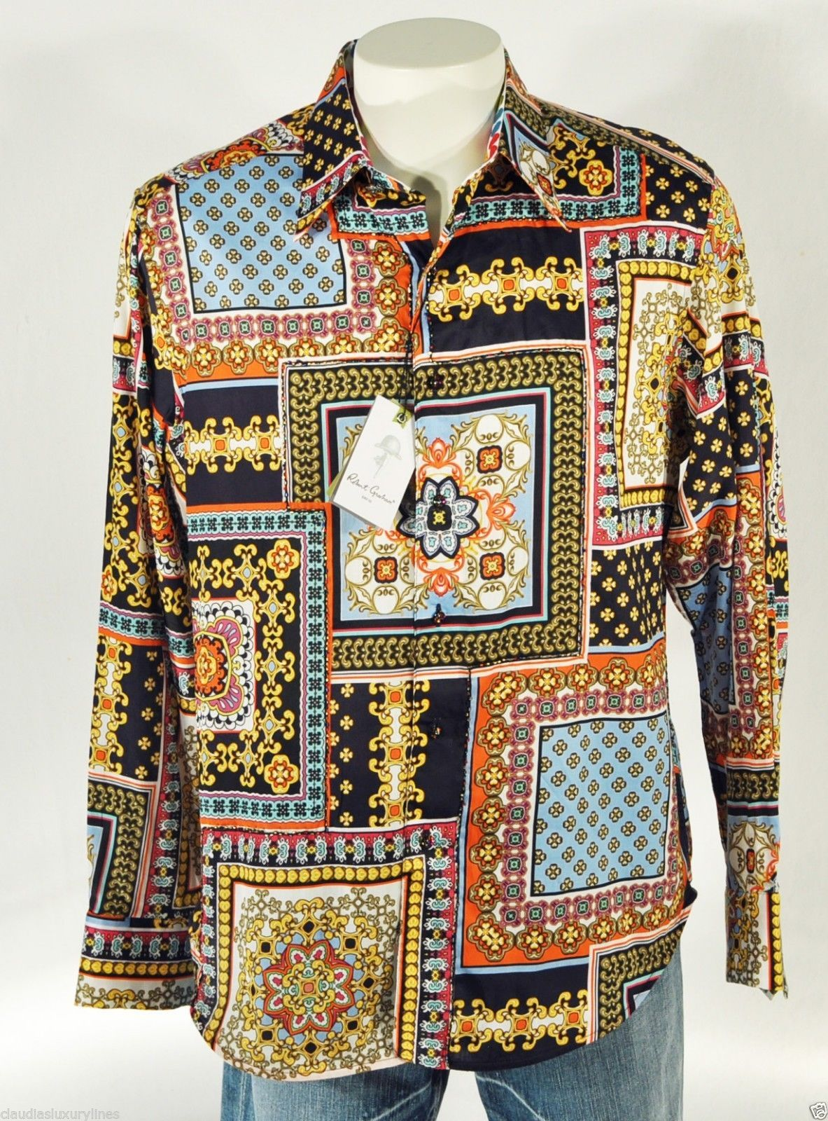 "Robert Graham Limited Edition ""Islageorge"" Button Down Shirt Large #ShopClaudias $349.99"