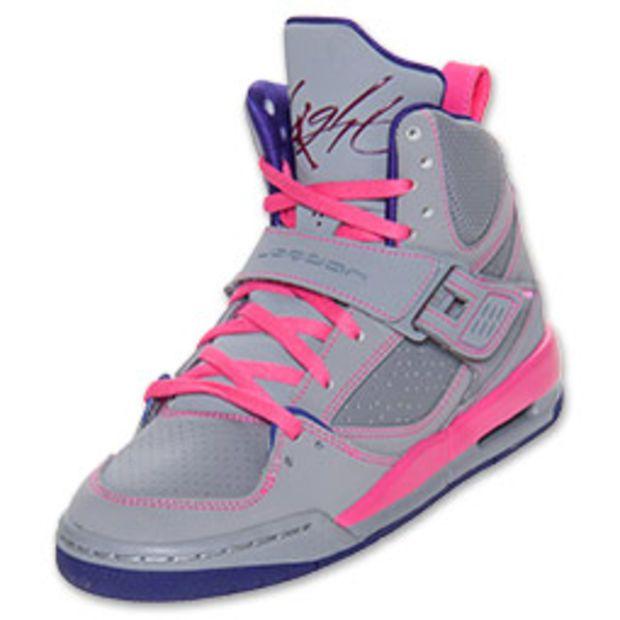 quality design 9153e 721cf Girls  Jordan Grade School Flight 45 High Basketball Shoes