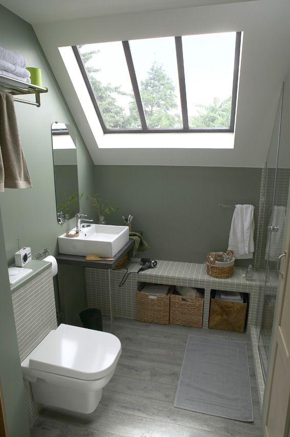 1000 images about bathroom on pinterest - Petite Salle De Bain Sous Comble Avec Wc