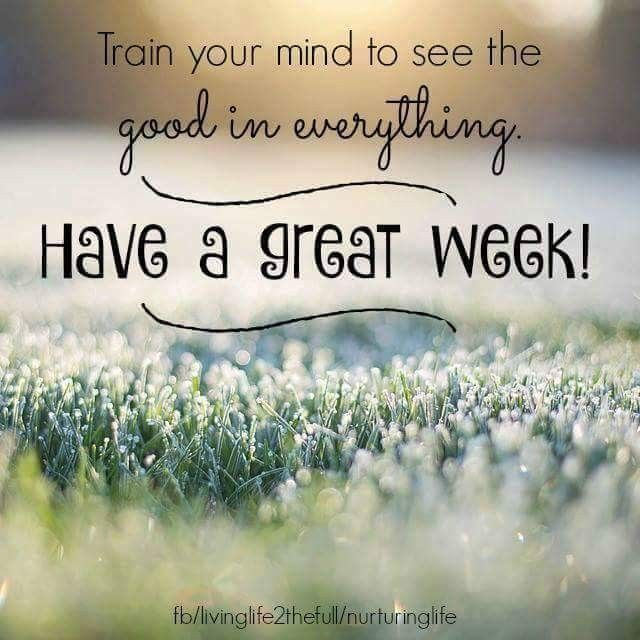 Have a great week | New week quotes, Good work quotes ...