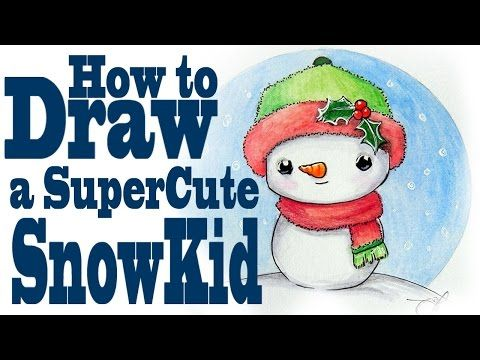 How To Draw A Super Cute Snowman Kid Cute Snowman Draw A Snowman Snowman Wallpaper