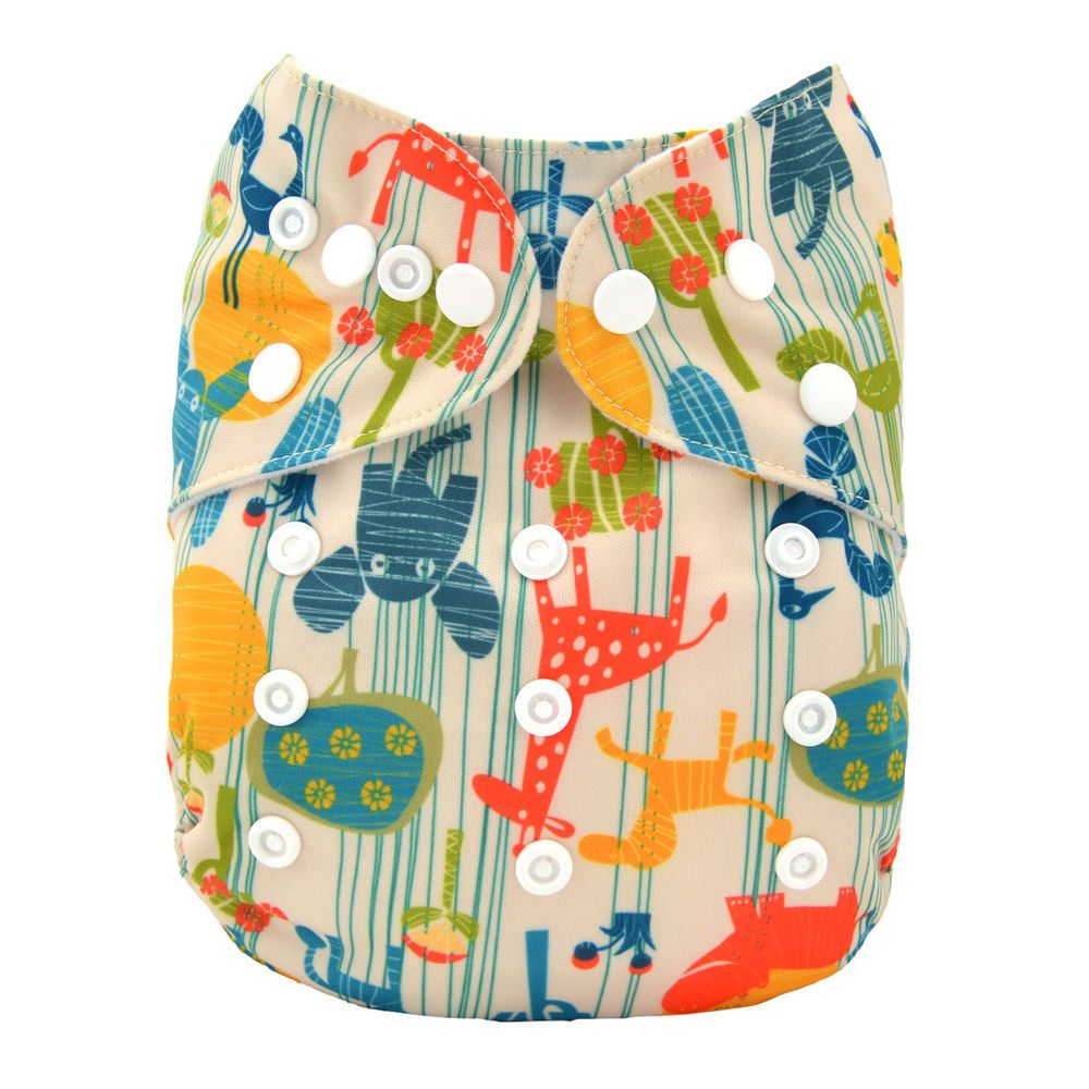 1Insert ALVABABY Cloth Diaper One Size Girl Washable Reusable Pocket Nappy