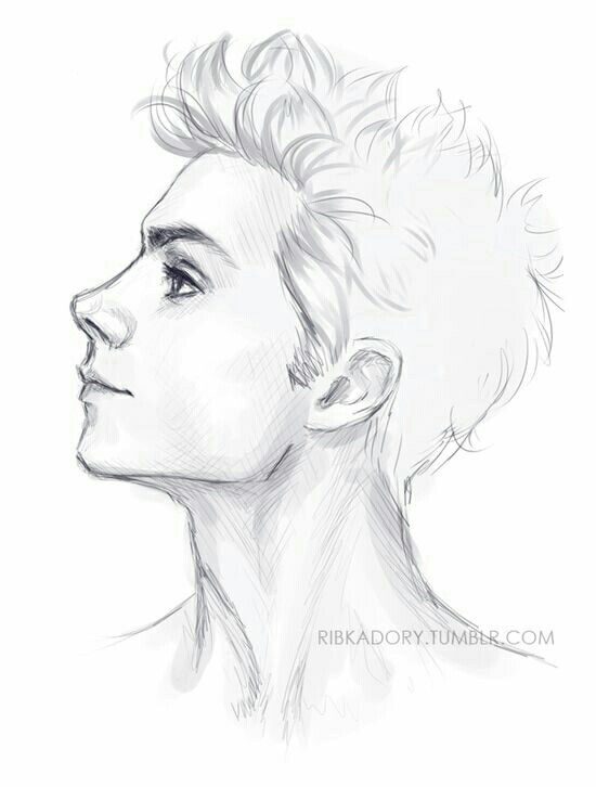 Pencil Sketch Two Side Hair Boy