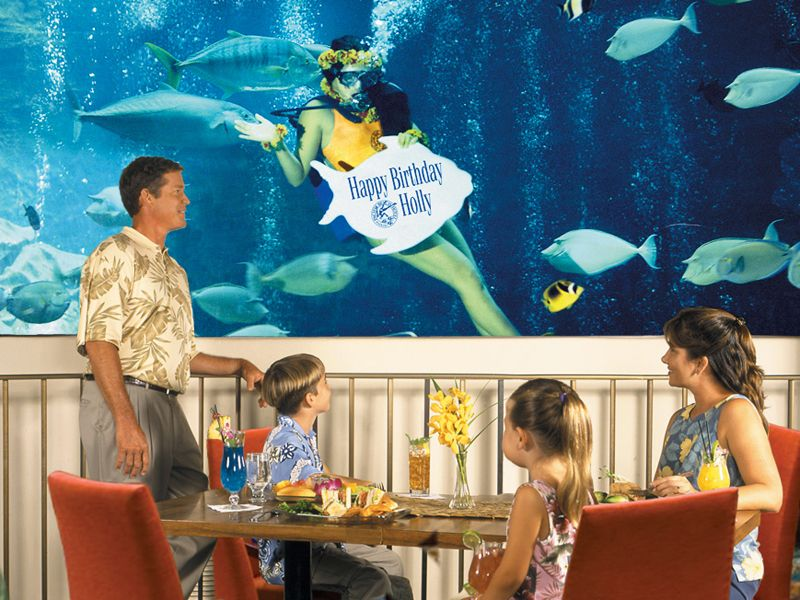 Taking Our Visitors For Dinner Or Lunch At The Oceanarium Restaurant Was Always A Must Us Located In Pacific Beach Hotel Waikiki