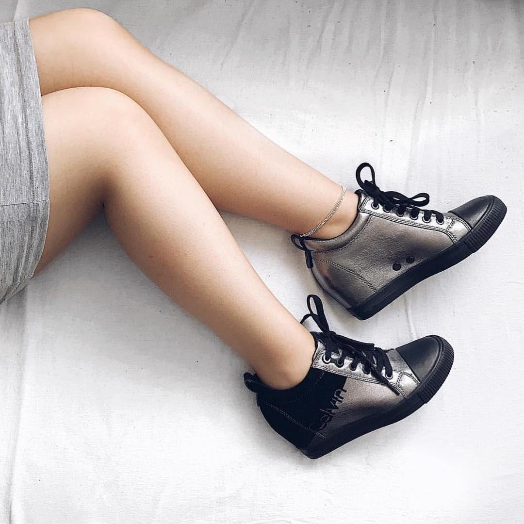 Calvinklein U Aleksandra Zielinska Calvinklein Ckj Premium Trampki Goldshoes Wedges Instagirls Shoes Gold Shoes Oxford Shoes Shoes