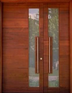 Pin en decoracion for Puertas dobles de madera exterior