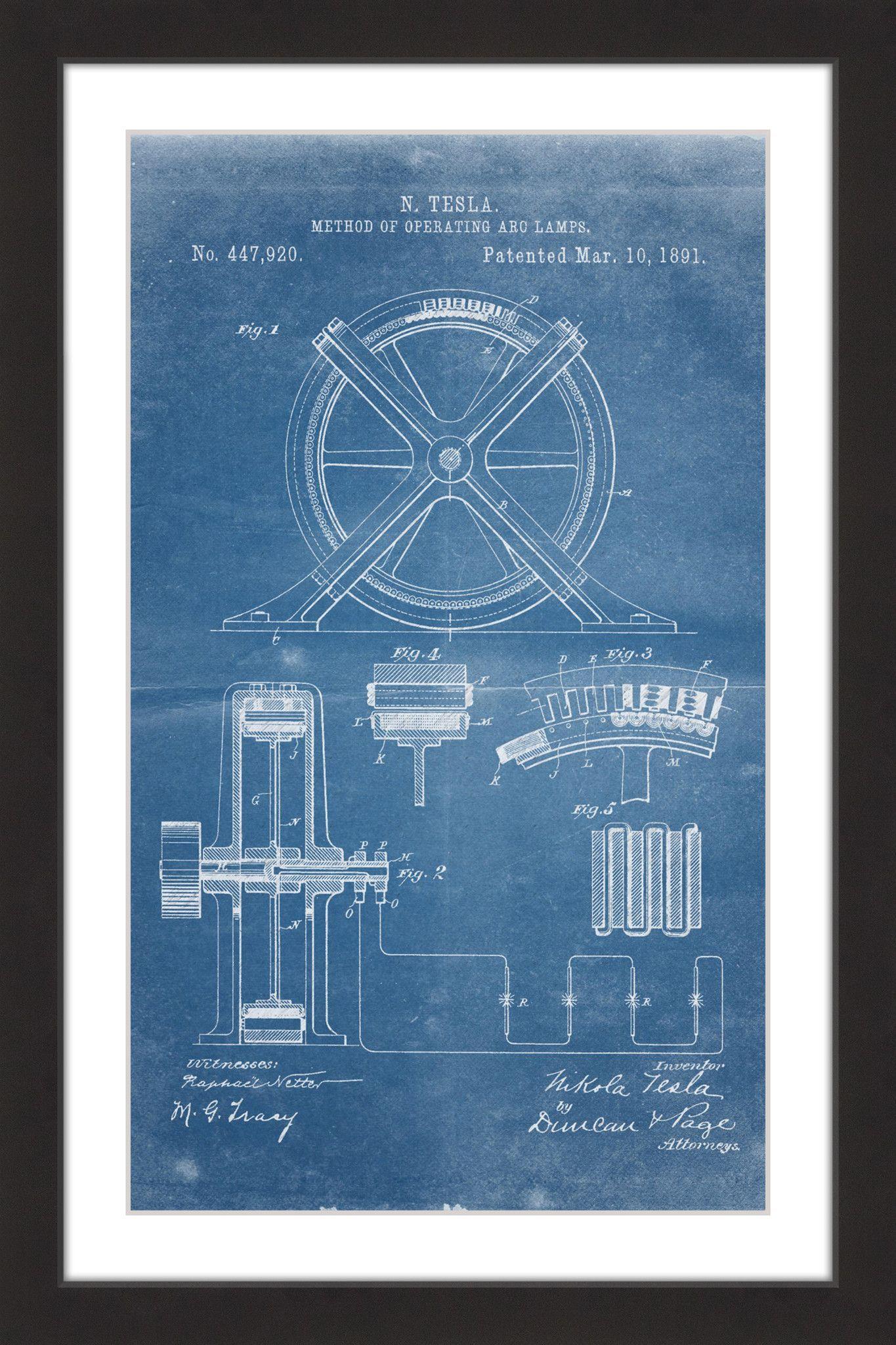 Tesla arc lamp 1891 blueprint steve king and wisdom tesla arc lamp 1891 blueprint malvernweather Gallery