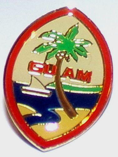 Guam Pin Palm Tree Sail Boat Ocean Island of Guam Collectors Pin