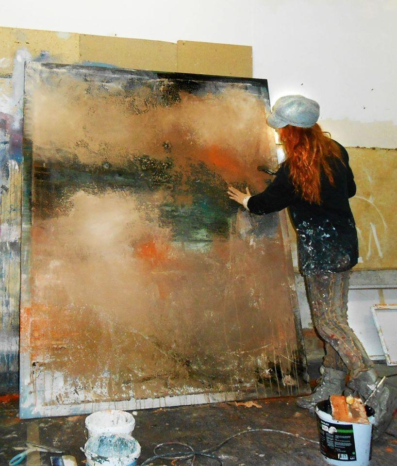 atelier abstrakte kunst abstrakte malerei conny. Black Bedroom Furniture Sets. Home Design Ideas