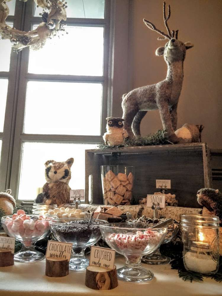 Woodland Animals Baby Shower Party Ideas