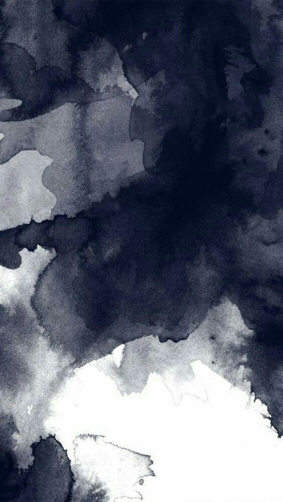 Black Watercolor Bleed Background Watercolor Wallpaper Iphone
