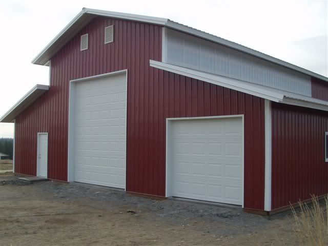 Metal Barn Kits >> 40 X 60 Pole Barn Home Designs 30x40 Pole Barns Kits Hd