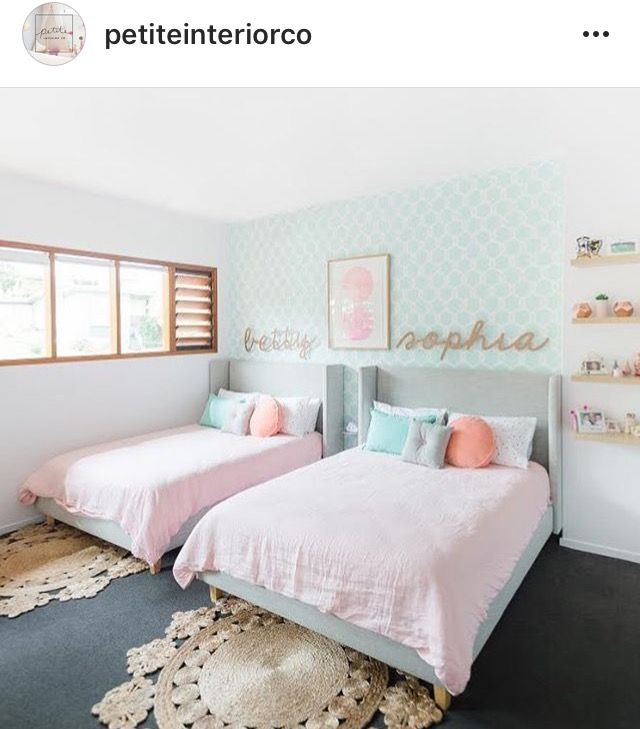 Pin By Roxyoxy Creations On Shared Bedrooms Twin Girl Bedrooms Shared Girls Bedroom Shared Girls Room