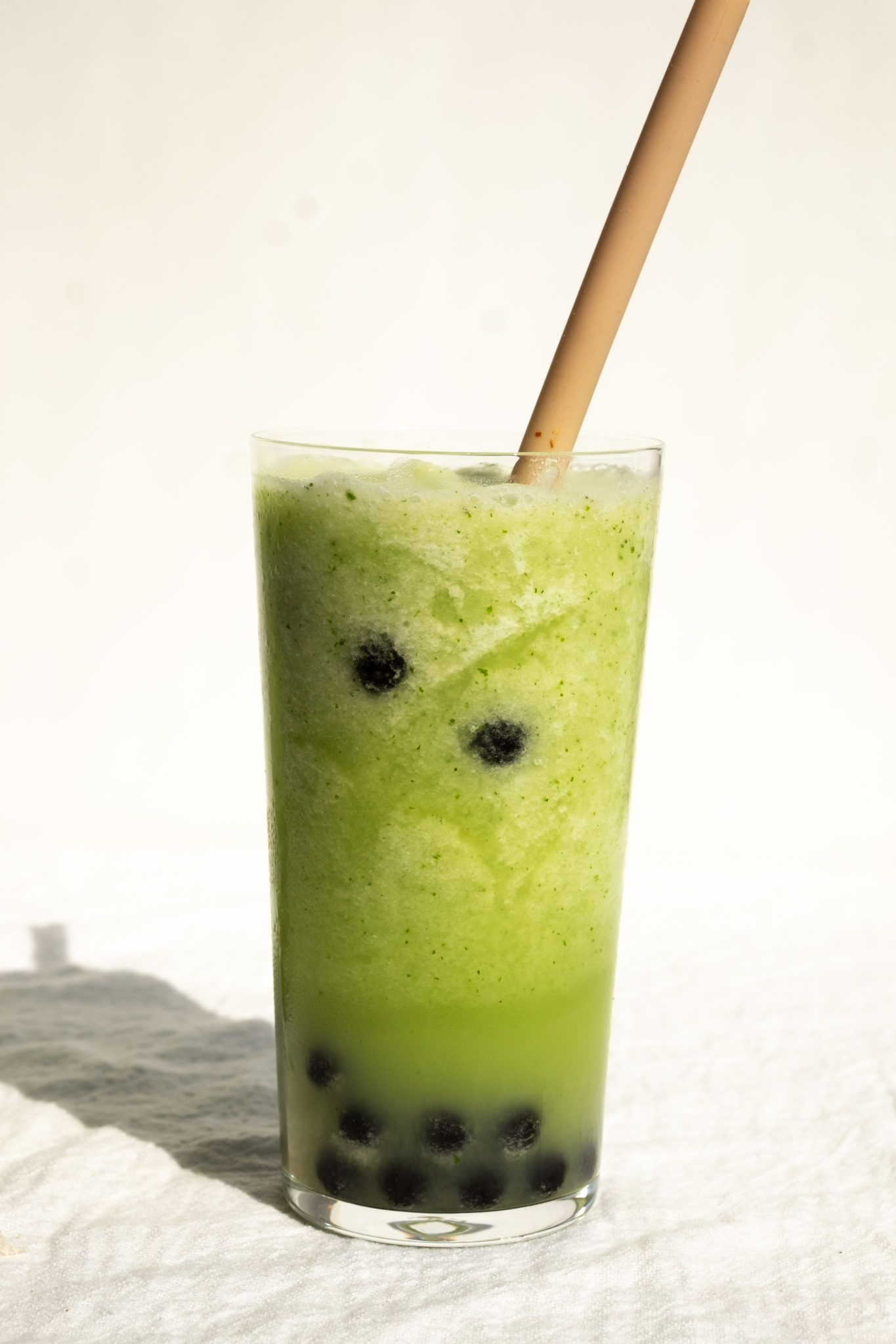 honeydew smoothie with boba #honeydewsmoothie
