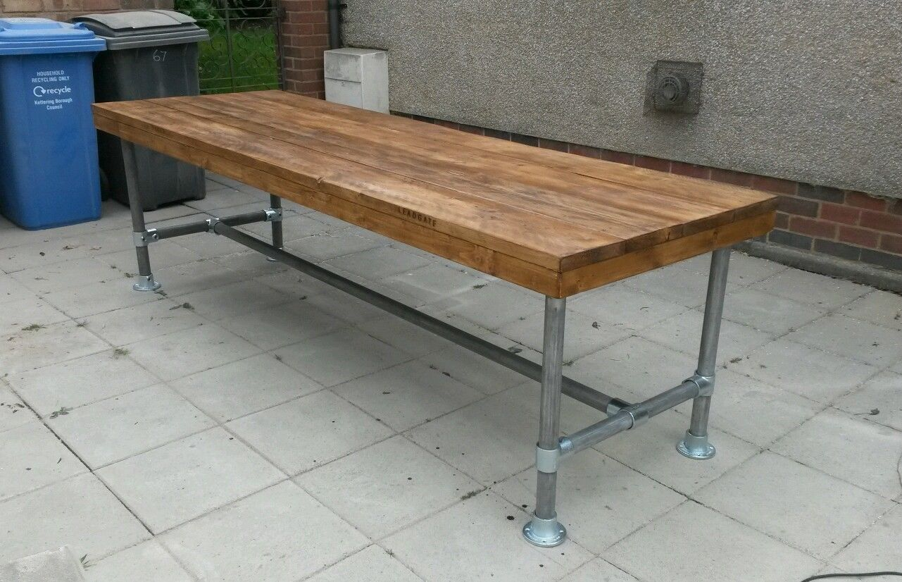 urban industrial scaffold desk, kitchen island, table made to