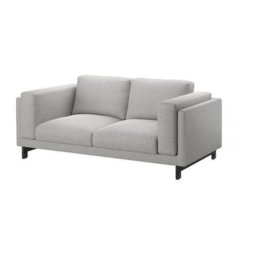2er sofa ikea  NOCKEBY 2er-Sofa, Tallmyra rostbraun, verchromt | Black wood ...