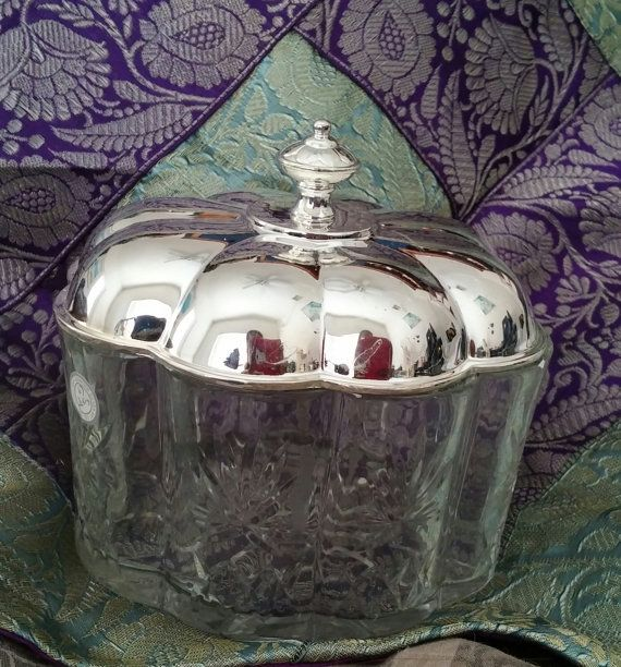 Godinger Silver Art Co LTD Silver Plate and Crystal Trinket Jewelry