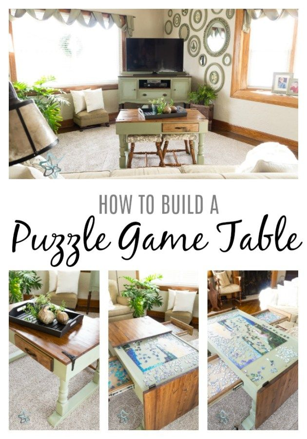 Diy Puzzle Game Table Puzzle Table Table Games Jigsaw Puzzle Table